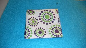Front of Fabric Coaster