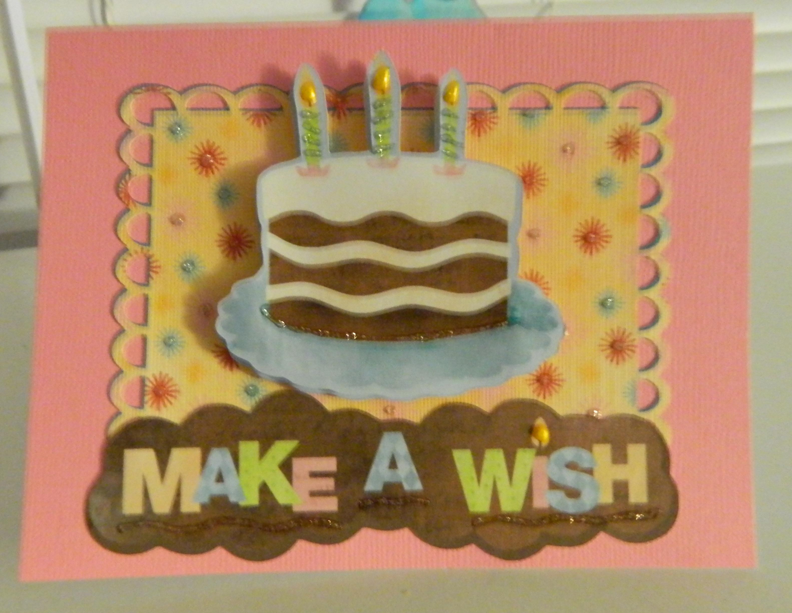 Happy Birthday Using Cricut Imagine Cartridge Yummy A