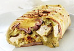Grilled Chicken, Swiss and Ham Wrap