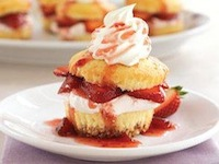 Strawberry Cream Cupcake Desserts