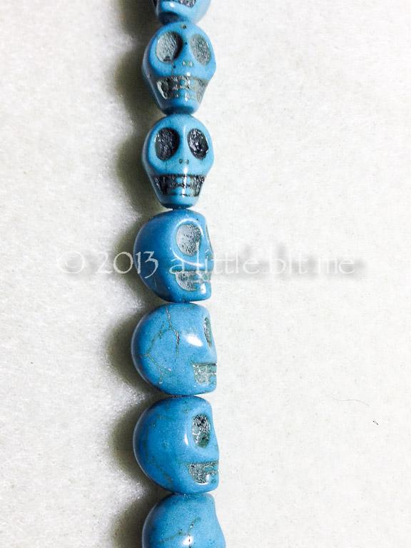 Howlite Turquoise Sugar Skulls